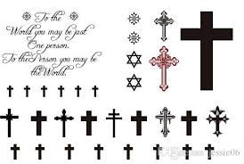 Fashion Temporary Tattoos Stickers Sexy Cross Body Tattoo Punk