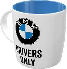 nostalgic retro kaffee becher bmw drivers only