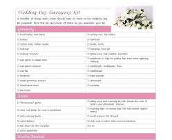 Day Of Wedding Checklist Printable Unveiled As Part The New Line