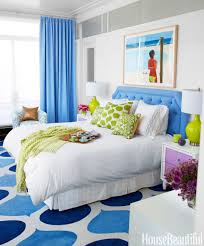 Design Ideas For Bedrooms Pleasing 54bf45c1920b4 Hbx Blue Curtains Bedroom 0314 S2
