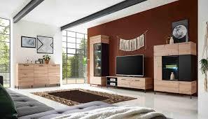 lucas 1 wohnzimmer komplettset artisan eiche schwarz günstig möbel küchen büromöbel kaufen froschkönig24