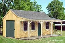 Free 12x16 Gambrel Shed Material List by Building Plans U0026 Blueprints Ebay