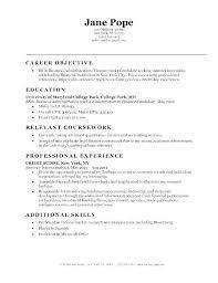 Accountant Objective Resume Accounting Internship Ready Sample