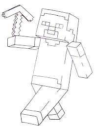 Minecraft Steve Coloring Pages Printable Within
