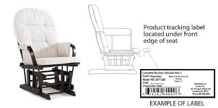 100 Rocking Chairs For Nursery Burlington LaJobi Recalls Glider Rockers Due To Fall Hazard CPSCgov