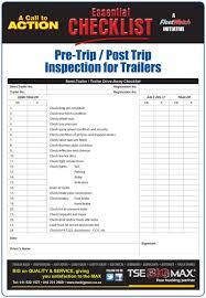 100 Truck Pre Trip Inspection Checklist Form Lobo Black
