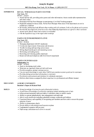 Parts Counter Resume Sample Auto Sales