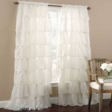 Pink Ruffled Window Curtains by Interior Ruffled Curtain White Ruffle Curtains Pink Ruffle