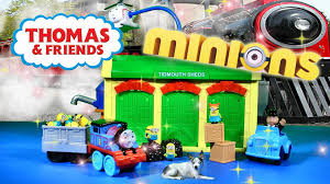 Thomas Tidmouth Sheds Mega Bloks by Minions Movie Thomas Train Toys Playset Toy Reviews Videos For