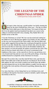 Legend Of The Christmas Spider Although I Hate Spiders Really Like This