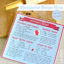 Recipe Card Printable Crafts Unleashed