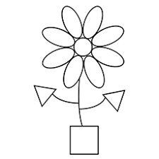 Shapes Of Flower And Pot Free Printable Geometric Pattern Shape Coloring Pages