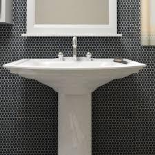elitetile 0 8 x 0 8 porcelain mosaic tile in matte black