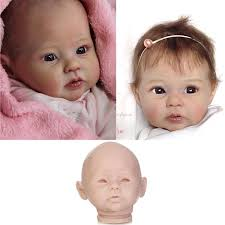 Newborn Doll Kit Reborn Dolls Supplies Unpainted Soft Vinyl Head 34
