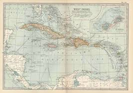 West IndiesWest Indies Including The Windward Islands And Leeward Detail Of A Map In 10th Edition Encyclopaedia Britannica 1902