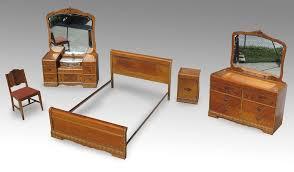 Waterfall Vanity Dresser Set by 5 Pc Art Deco Waterfall Bedroom Suite