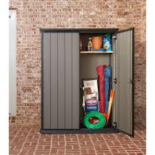 Keter Storage Shed Home Depot by Keter High Store 4 6 Ft X 2 5 Ft X 5 10 Ft Resin Vertical