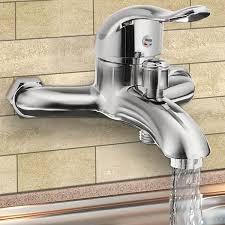 xueqin chrom poliert wand montiert wasserhahn mischbatterie badewanne ventil dusche armaturen bad einzigen griff kalt und warmwasser