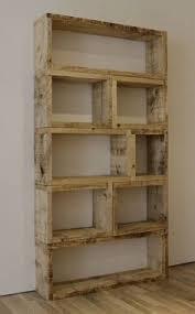 DIY Rustic Bookcase This Is So Simple Yet Effective 2x8 Modular Construction Book ShelvesDiy Bookshelf WallLadder