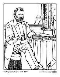 Coloring Page 18 Ulysses S Grant
