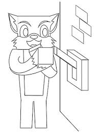 Stampy Coloring Pages On Cat Minecraft