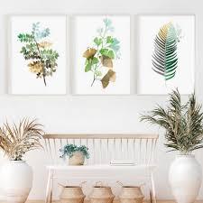 tropical palm ginko blatt grün kleine frische wand