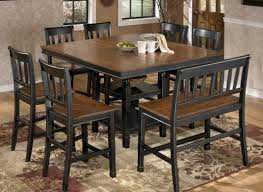 Black Kitchen Table Decorating Ideas by Tall Square Dining Table Medium Size Of Chairs Small Kitchen