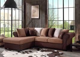canap d angle en tissu canapé d angle fixe contemporain en tissu brun sally canapé d