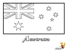 Australia Flag Coloring At YesColoring