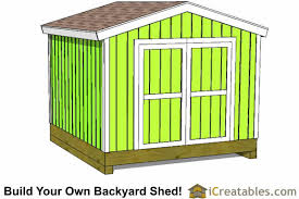 10x10 Shed Plans Storage Sheds & Small Horse Barn Designs