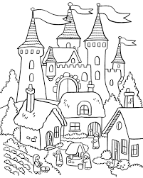 House Coloring Pages With Royal Palace