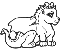 Cute Baby Dragon Coloring Pages KidsyColoring