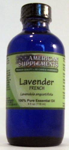American Supplements Essential Oil, French Lavender - 4 oz bottle