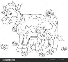 Livre De Coloriage Vache Illustration De Vecteur Illustration Du