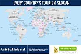 The Worlds Tourism Slogans All On One Map