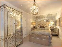 Delightful Creative Mirror Bedroom Set Glass Monroe Pearlizzed White Wood 2pc