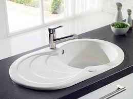 evier de cuisine en evier blanc de cuisine en résine avec égouttoir en cascade photo 18
