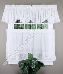 White Eyelet Kitchen Curtains by Vienna Embroidered Eyelet Ruffled Curtains United Cafe U0026 Tier