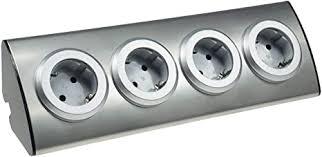 chilitec 4 fach edelstahl ecksteckdose mit 4x schutzkontakt