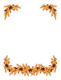 Autumn Border Clipart
