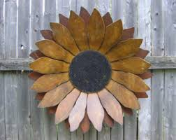 Sunflower Rusty Metal Wall Hanging Rustic 24