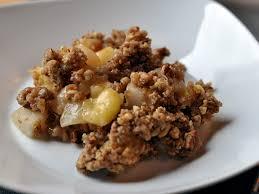 apfel birnen nuss crumble eis dessert mitesser