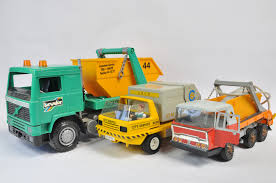 Large Scale Bruder Plastic Skip Truck Plus 2 Others. Generally Vg. (3)
