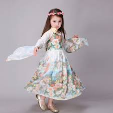 Brand Childrens Wear Girl Dress Teenage Kids Summer Cool Floral Dresses Bohemian Fashion Chiffon Beach For Girls In From Mother On