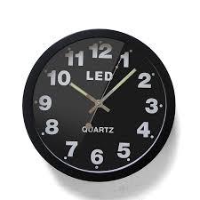 home verbesserung neue 12 zoll einfache digitale metall led elektrische dig wanduhr mode kreative mute wanduhr wohnzimmer zimmer uhr buy alarm