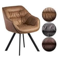 finebuy esszimmerstuhl wildlederoptik gepolstert küchenstuhl mit schwarzen beinen moderner schalenstuhl mit armlehnen design polsterstuhl