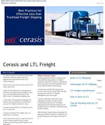 Cerasis And LTL Freight - PDF Home Gulf Coast Logistics Trucking Company Dr Dispatch Software Easy To Use For And Brokerage Ltx Spotlight Is Uberization Still The Future Of Freight Ltl Memphis Transportation Capacity Rate Outlook 2017 Road Scholar Transport Straight Truck Board Best Image Kusaboshicom Shipping Tutorial What You Need Know Youtube Which Kind Shipment Do Have Less Than Truckload