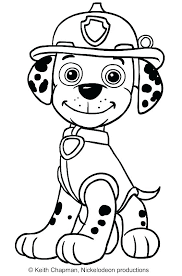 Paw Patrol Coloring Page Colouring Pages Printable Marshall Sheets
