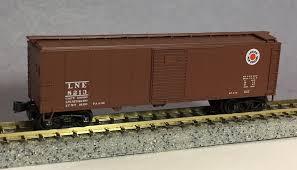 caboose l n scale caboose 17014 2 boxcar 40 foot ara lehigh