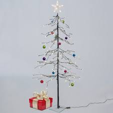 5ft Christmas Tree With Led Lights by Best Choice Products 5ft 144l Led Fir Snow Tree Lights W Star Tree To